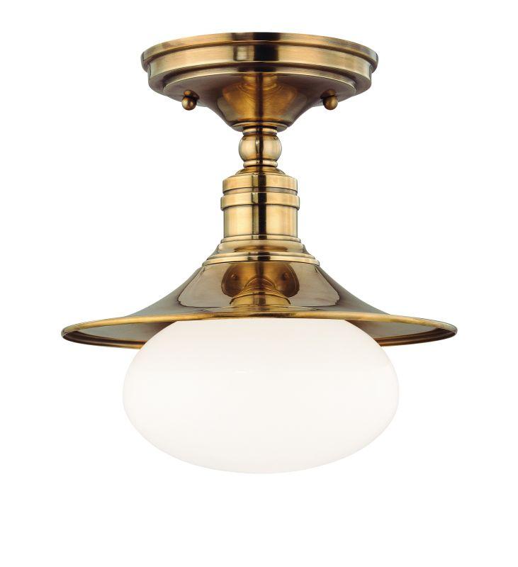 Hudson Valley Lighting 6711 Lawton 1 Light Cast Brass Semi-Flush Mount Sale $160.00 ITEM: bci1737566 ID#:6711-AGB UPC: 806134105556 :