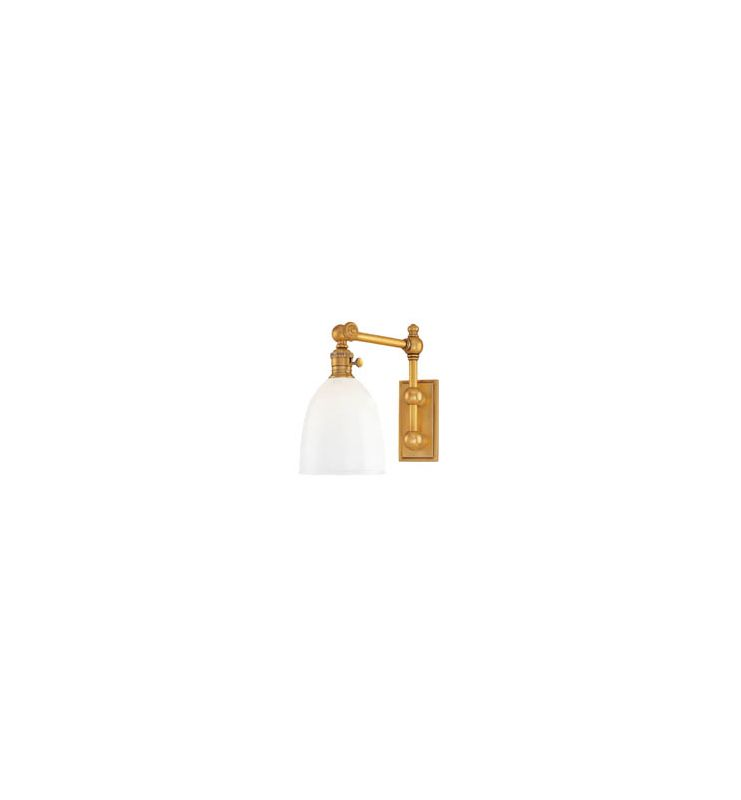 Hudson Valley Lighting 762 Roslyn 1 Light Swing Arm Wall Sconce Aged
