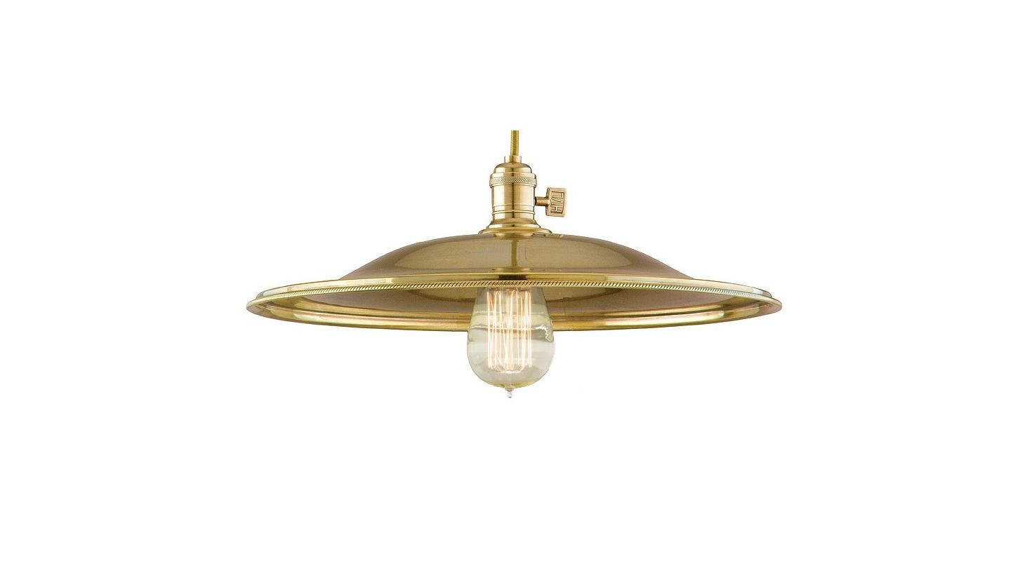 Hudson Valley 8001-AGB-MS2 Aged Brass Industrial Heirloom Pendant