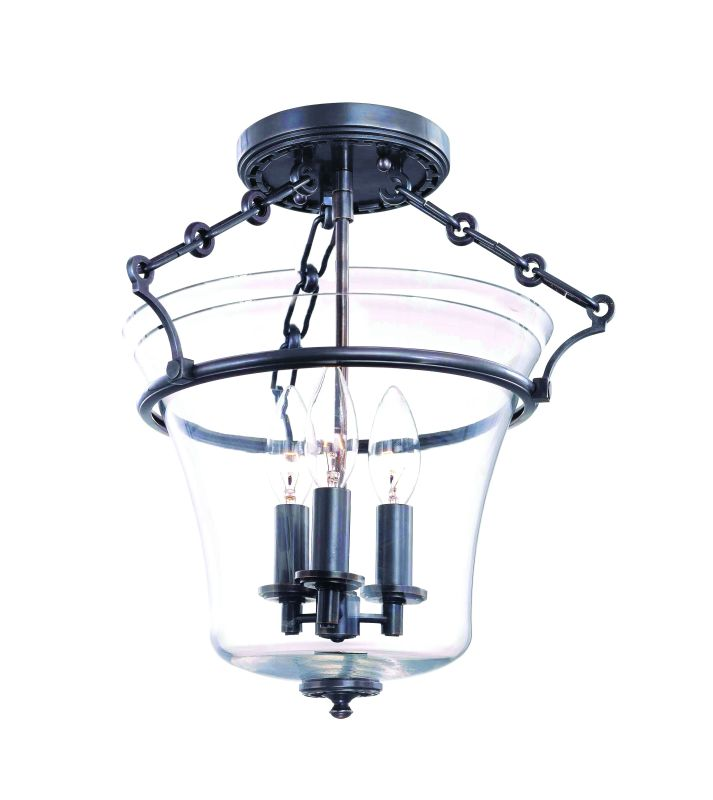 Hudson Valley Lighting 830 Three Light Up Lighting Semi Flushmount Sale $418.00 ITEM: bci1737674 ID#:830-OB UPC: 806134123864 :