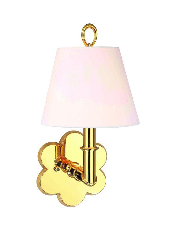 Hudson Valley Lighting 921 Single Light Up Lighting Brass Wallchiere