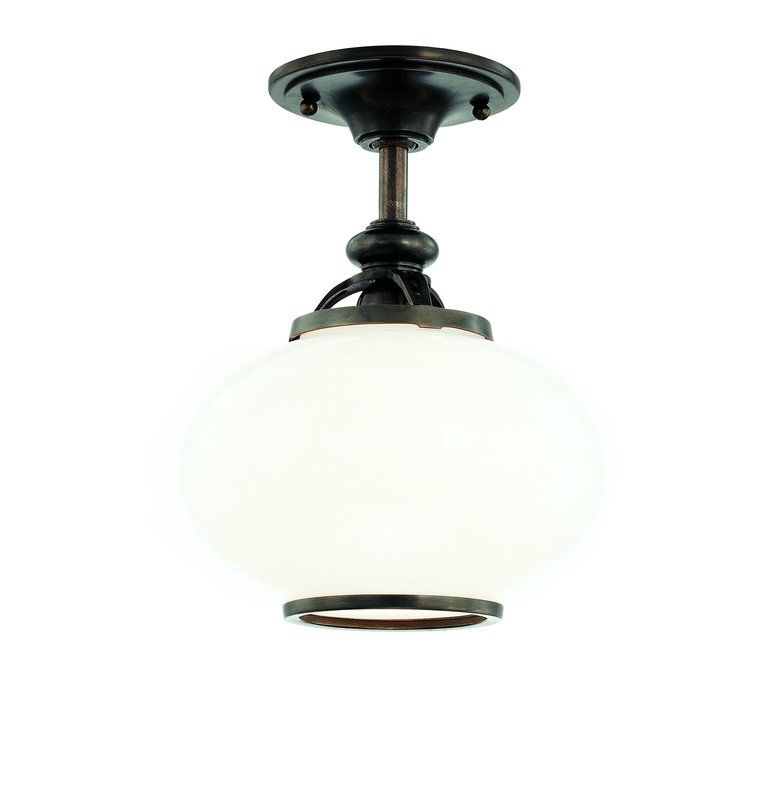 Hudson Valley Lighting 9809F One Light Semi Flush Ceiling Fixture from