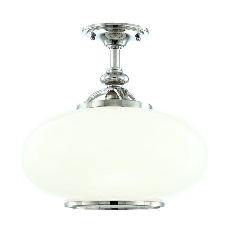 Hudson Valley Lighting 9815F One Light Semi Flush Ceiling Fixture from