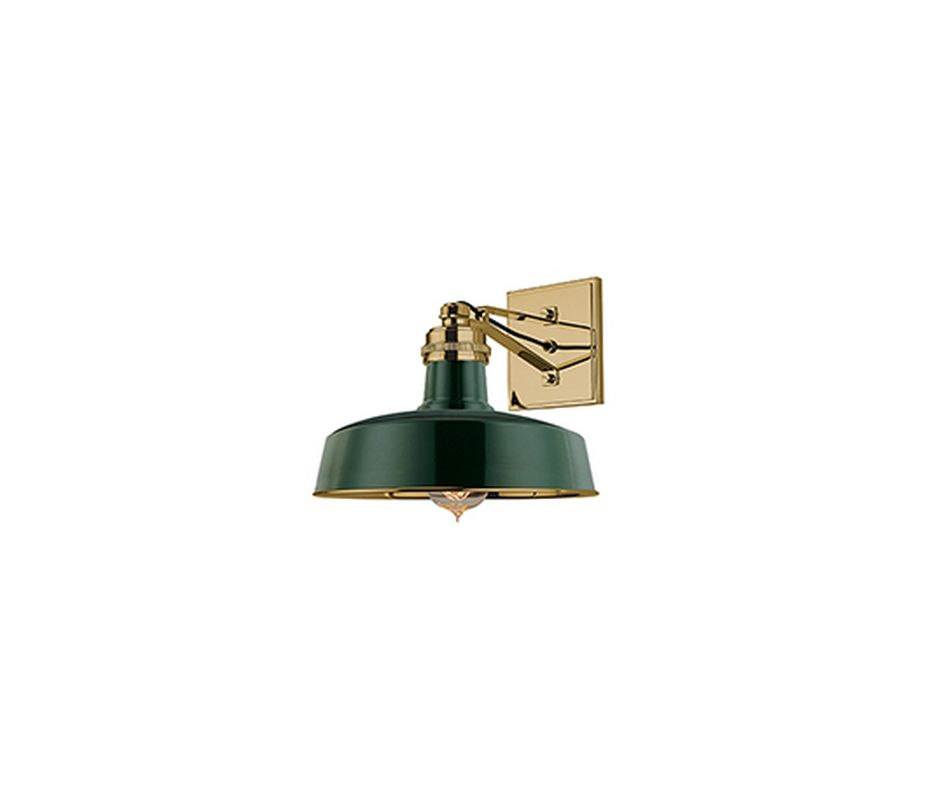 Hudson Valley 8601-GAGB Aged Brass Industrial Hudson Falls Wall Sconce