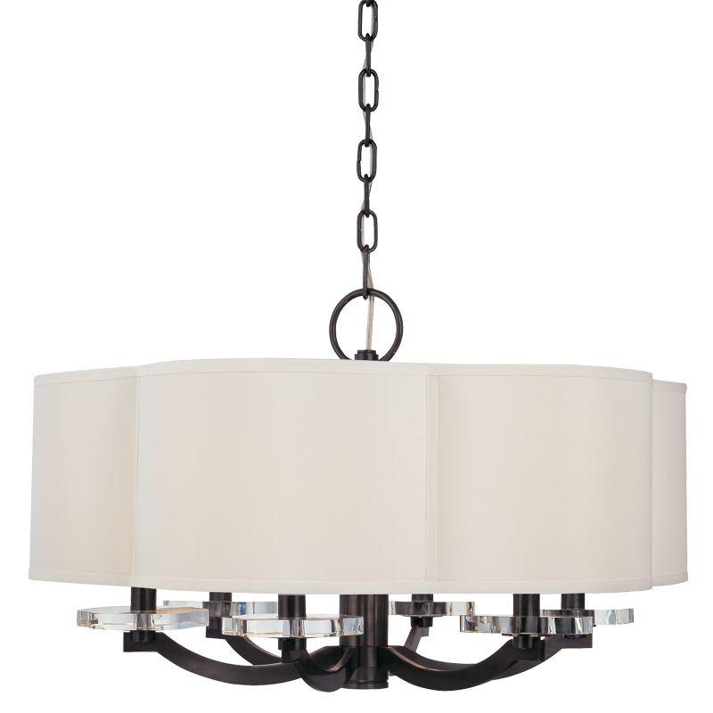 Hudson Valley Lighting 1426 Garrison 6 Light Drum Chandelier with Faux