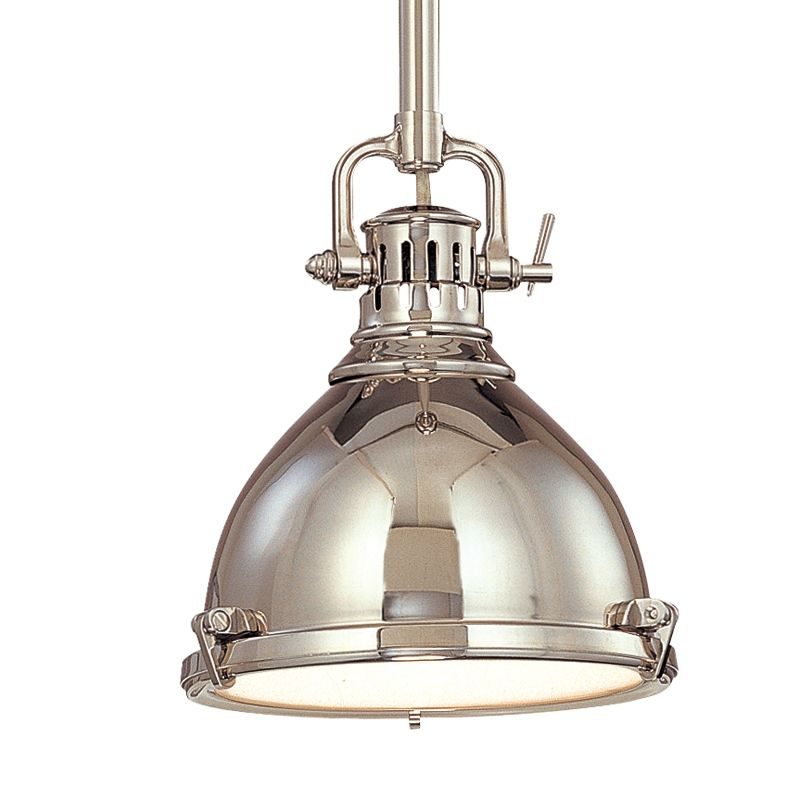 Hudson Valley 2210-PN Polished Nickel Industrial Pelham Pendant