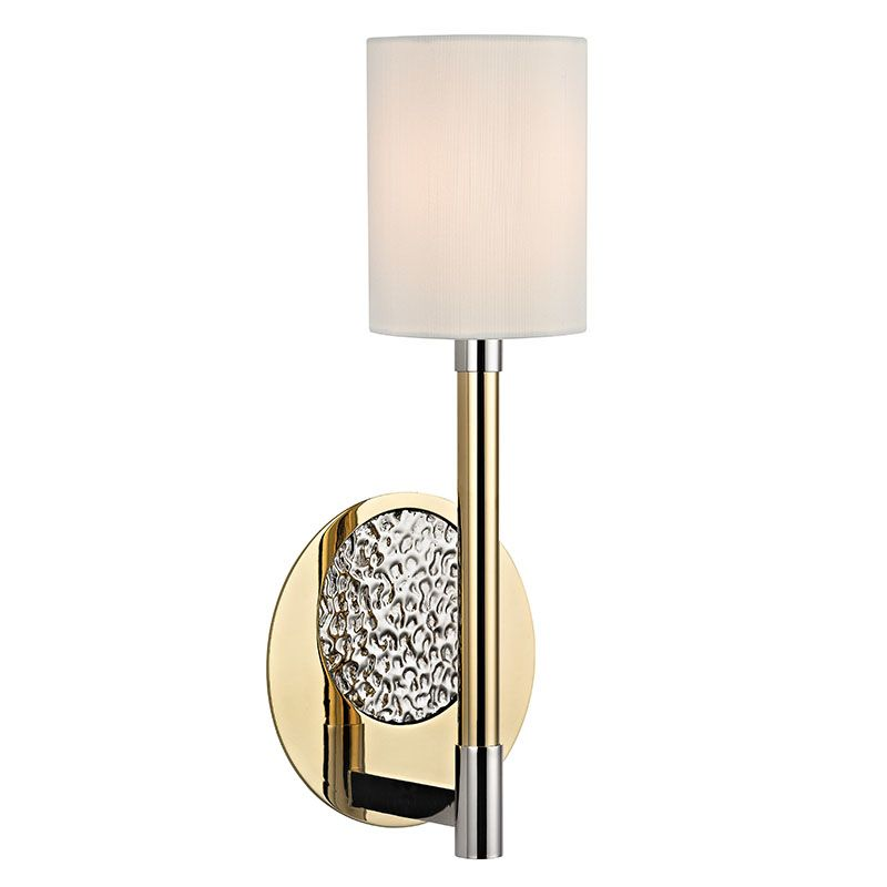 Hudson Valley Lighting 1211 Burbank 1 Light Wall Sconce with Faux Silk