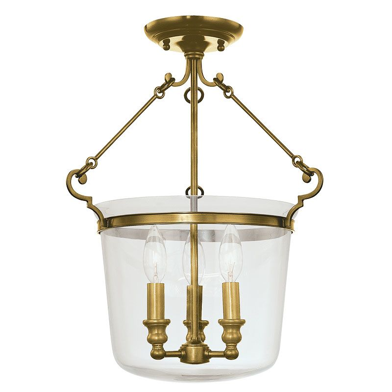 Hudson Valley Lighting 130 Three Light Semi Flush Ceiling Fixture from