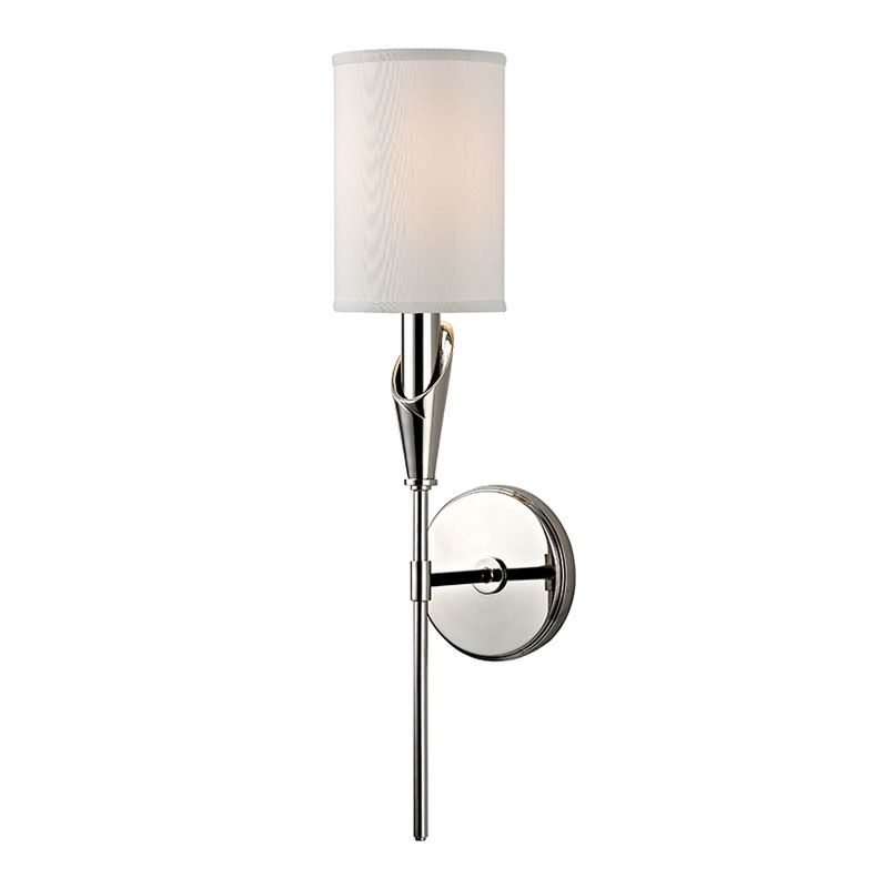 Hudson Valley Lighting 1311 Tate 1 Light Wall Sconce with Faux Silk