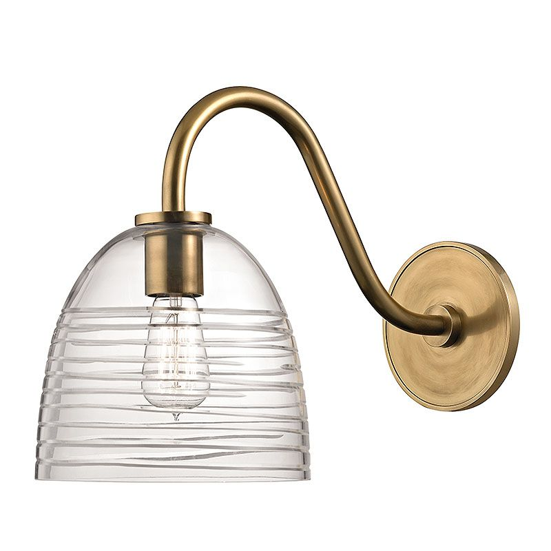 Hudson Valley 1611-AGB Aged Brass Contemporary Remsen Wall Sconce