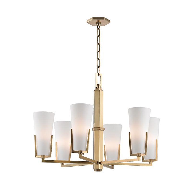 Hudson Valley Lighting 1806 Upton 6 Light 19&quote Tall Single-Tier