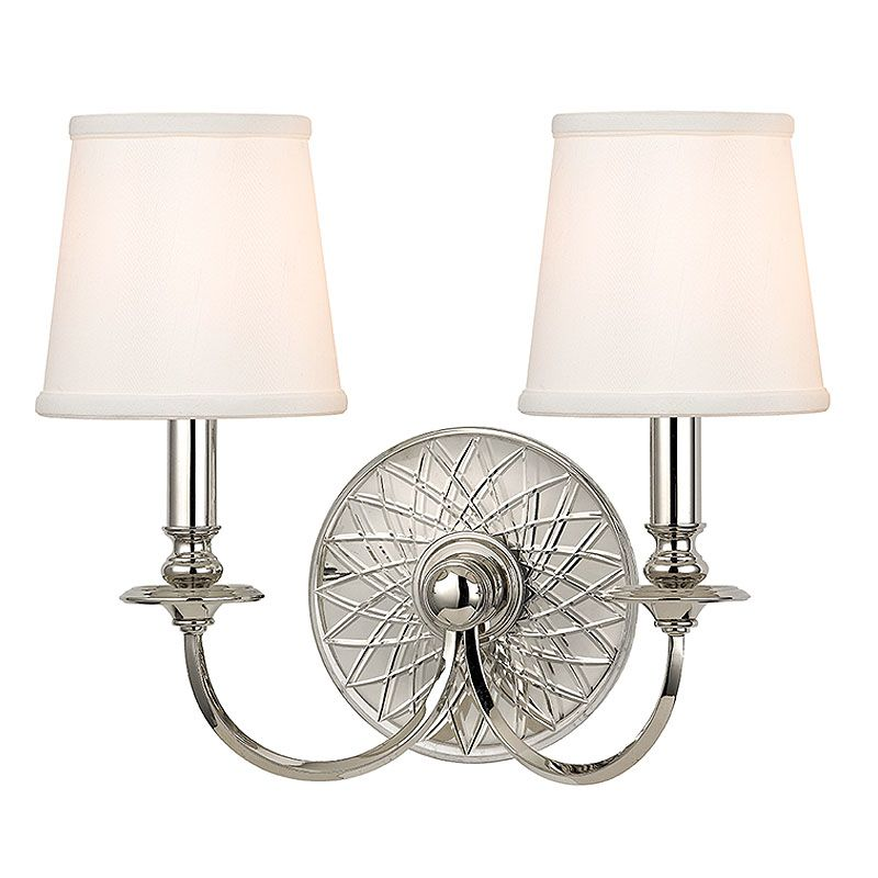 Hudson Valley Lighting 1882 Yates 2 Light Double Wall Sconce with Faux