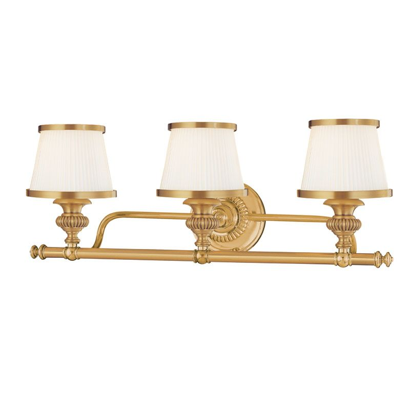 Hudson Valley Lighting 2003 Three Light Wall Sconce from the Milton
