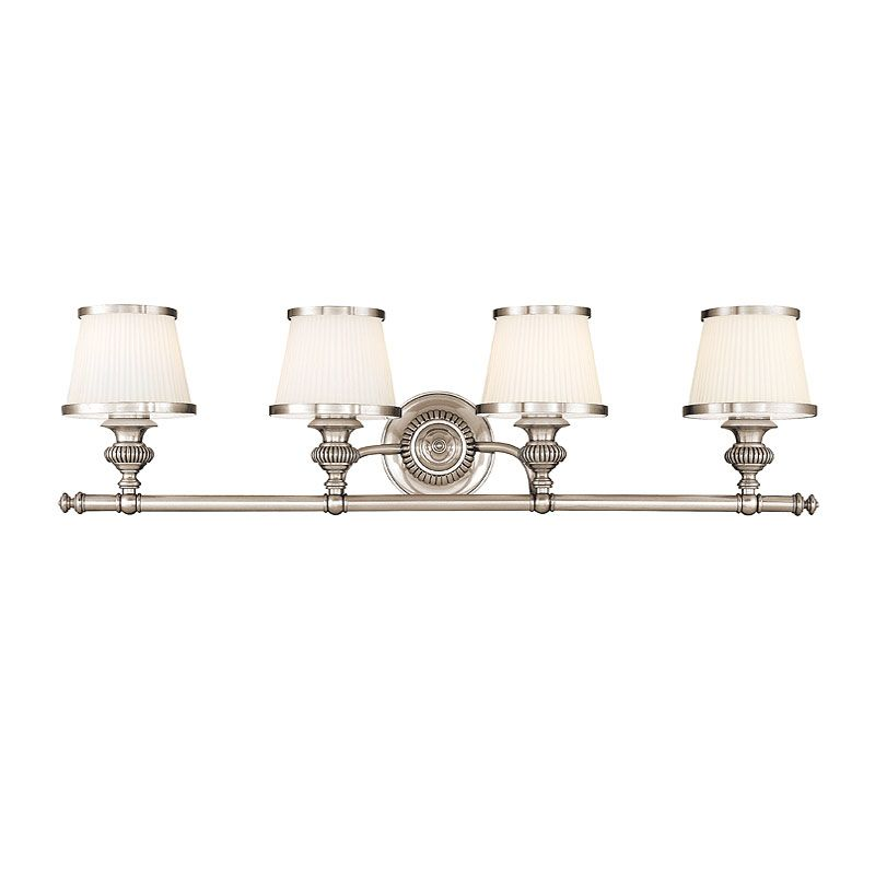 Hudson Valley Lighting 2004 Four Light Wall Sconce from the Milton Sale $536.00 ITEM: bci982410 ID#:2004-PN UPC: 806134097882 Four Light Wall Sconce Hudson Valley Lighting designs and manufactures distinctive lighting found in the finest homes and upscale hospitality environments where discerning taste prevails. Styles include strong traditional, vintage, reproduction, and contemporary lighting. From the Classically Styled Milton Collection Artisan-level craftsmanship All-Metal Construction UL-Rated :