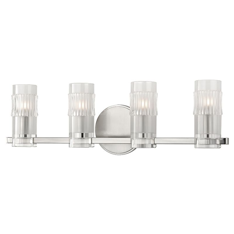 "Hudson Valley Lighting 2024 Malone 4 Light 23"" Bathroom Vanity Light Sale $152.00 ITEM: bci2680120 ID#:2024-SN UPC: 806134186814 :"
