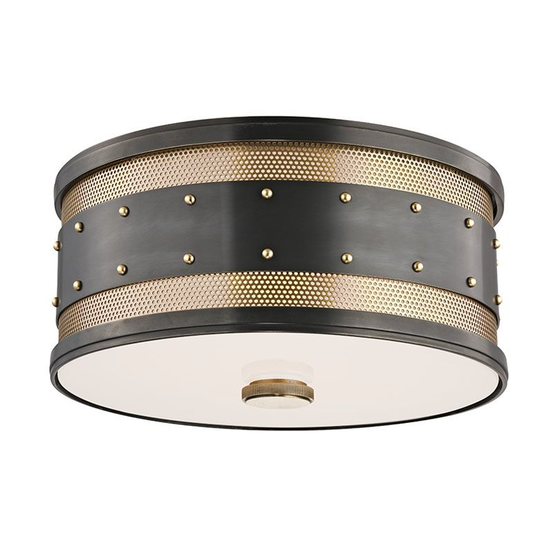 Hudson Valley 2202-AOB Aged Bronze Industrial Gaines Ceiling Light