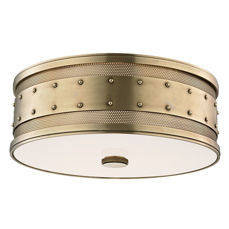 Hudson Valley 2206-AGB Aged Brass Industrial Gaines Ceiling Light