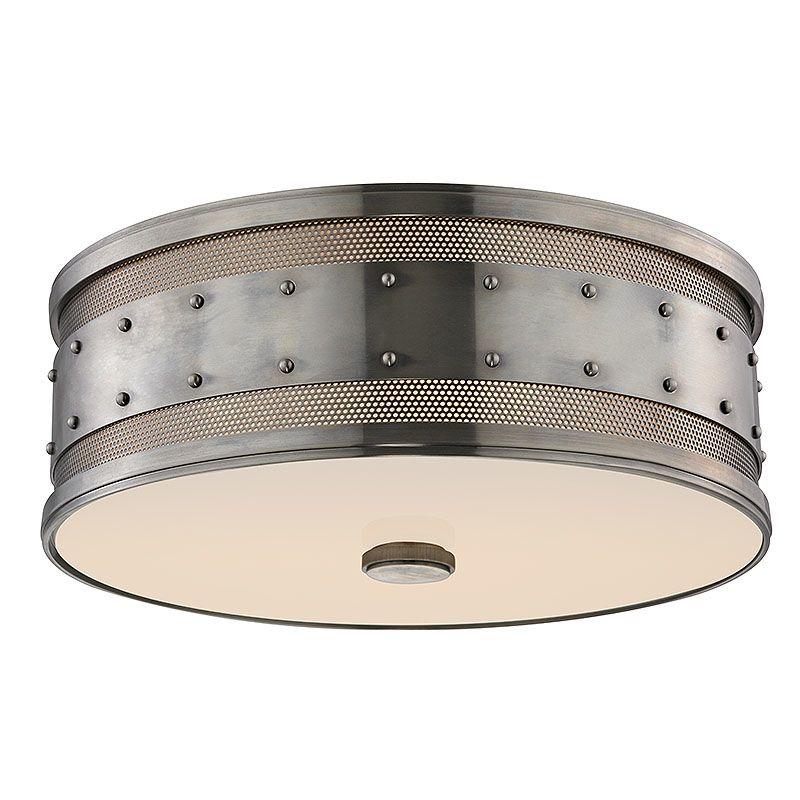 Hudson Valley 2206-HN Historic Nickel Industrial Gaines Ceiling Light