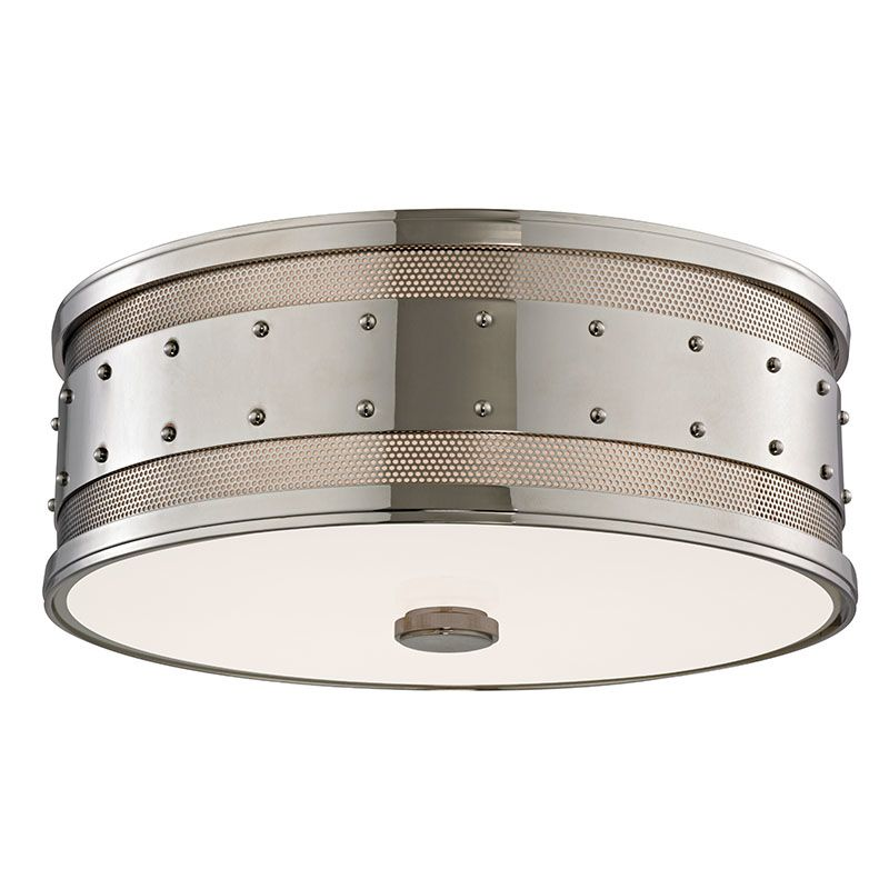 Hudson Valley 2206-PN Polished Nickel Industrial Gaines Ceiling Light