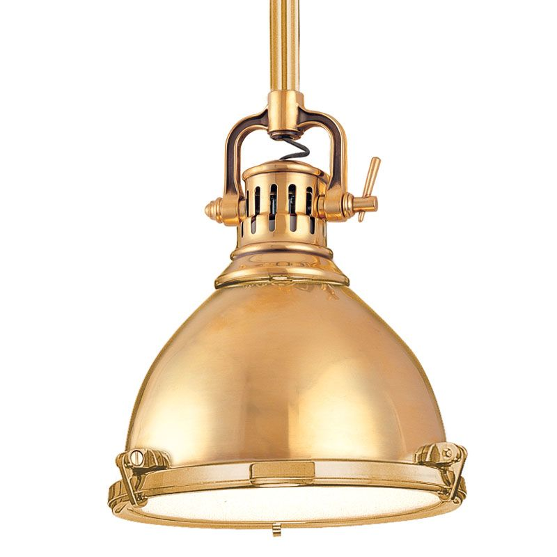 Hudson Valley Lighting 2210-AGB Aged Brass Industrial Pelham Pendant