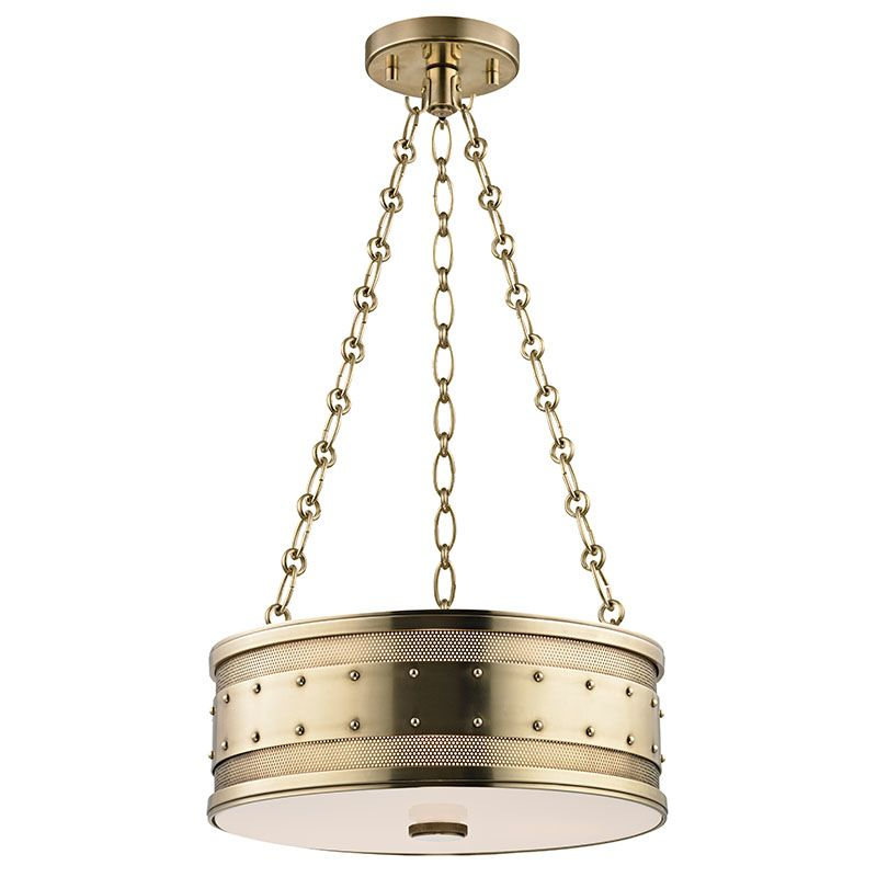 Hudson Valley Lighting 2216-AGB Aged Brass Industrial Gaines Pendant