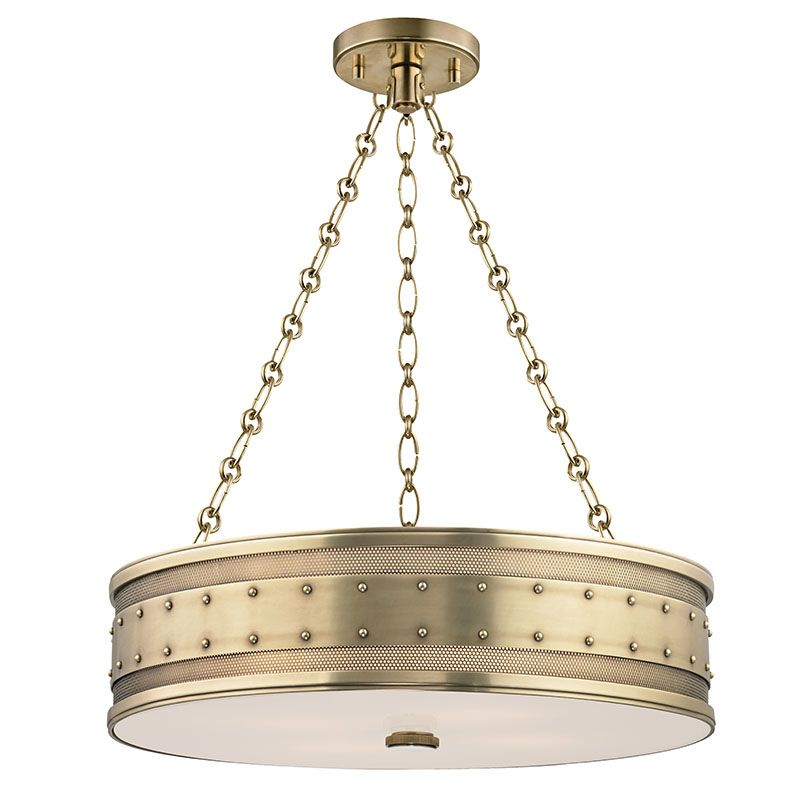 Hudson Valley Lighting 2222-AGB Aged Brass Industrial Gaines Pendant