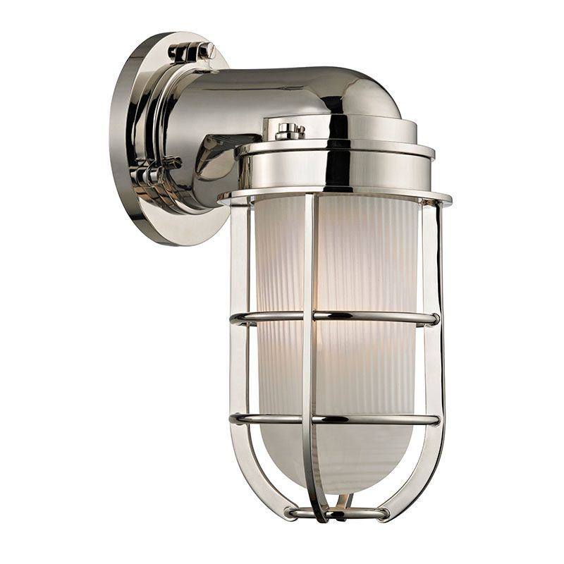Wall Sconces Nautical : Hudson Valley Lighting 240-PN Polished Nickel Carson 1 Light Nautical Outdoor Wall Sconce with ...