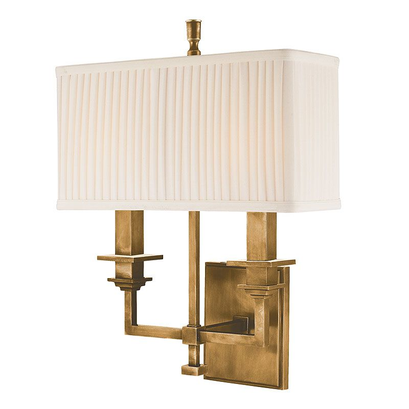 """Hudson Valley Lighting 242 Two Light Wall Sconce from the Berwick Sale $482.00 ITEM: bci982131 ID#:242-AGB UPC: 806134093471 Product Features: Finish: Old Bronze , Light Direction: Up Lighting , Width: 12.5"""" , Height: 15.75"""" , Genre: Traditional , Bulb Type: Compact Fluorescent, Incandescent , Number of Bulbs: 2 , Fully covered under Hudson Valley Lighting warranty , Location Rating: Indoor Use :"""