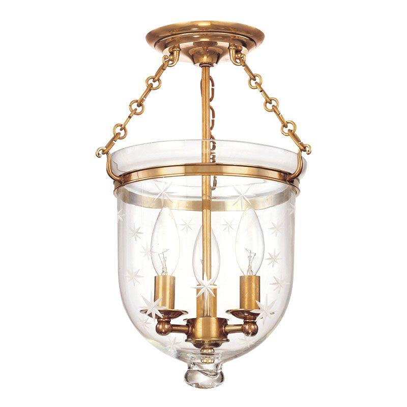 Hudson Valley Lighting 251-C3 Three Light Semi Flush Ceiling Fixture Sale $536.00 ITEM: bci983554 ID#:251-AGB-C3 UPC: 806134056445 :