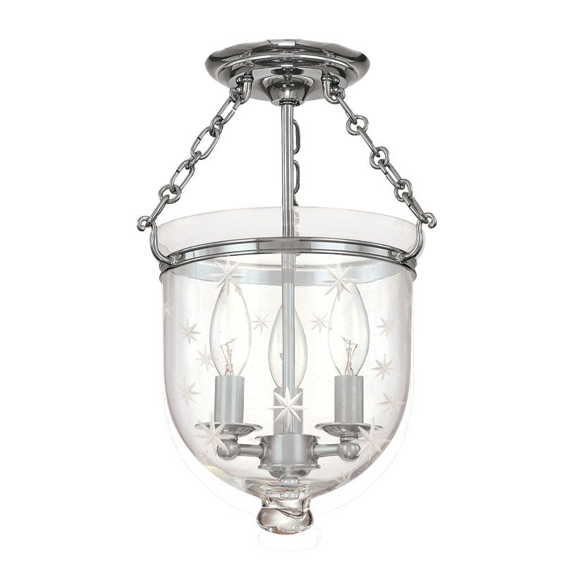 Hudson Valley Lighting 251-C3 Three Light Semi Flush Ceiling Fixture Sale $536.00 ITEM: bci983553 ID#:251-PN-C3 UPC: 806134061289 :