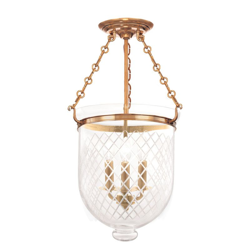 Hudson Valley Lighting 253-C2 Three Light Semi Flush Ceiling Fixture Sale $696.00 ITEM: bci983623 ID#:253-AGB-C2 UPC: 806134061876 :
