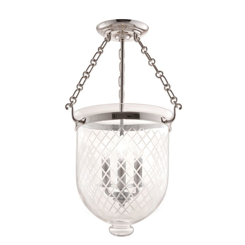 Hudson Valley Lighting 253-C2 Three Light Semi Flush Ceiling Fixture Sale $696.00 ITEM: bci983622 ID#:253-PN-C2 UPC: 806134056759 :