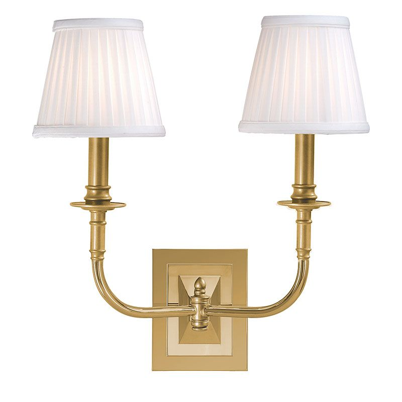 Hudson Valley Lighting 2702 Two Light Wall Sconce from the Lombard Sale $320.00 ITEM: bci524932 ID#:2702-AGB UPC: 806134013189 :