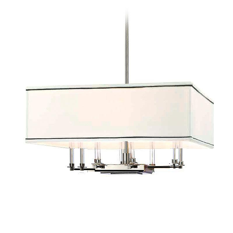 Hudson Valley Lighting 2924 Collins 8 Light Chandelier Polished Nickel