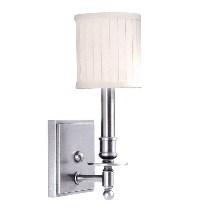 Hudson Valley Lighting 301 Palmer 1 Light Wall Sconce Polished Nickel