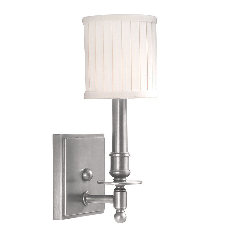Hudson Valley Lighting 301 Palmer 1 Light Wall Sconce Satin Nickel Sale $192.00 ITEM: bci524764 ID#:301-SN UPC: 806134013820 :