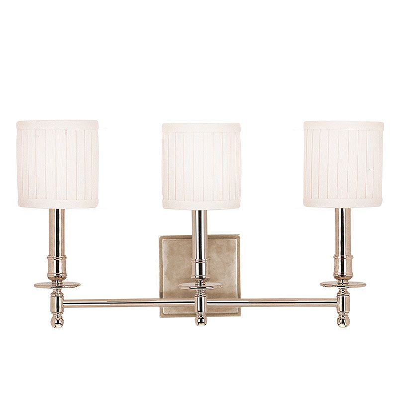 Hudson Valley Lighting 303 Palmer 3 Light Bathroom Vanity Fixture with Sale $399.00 ITEM: bci524769 ID#:303-PN UPC: 806134013899 :