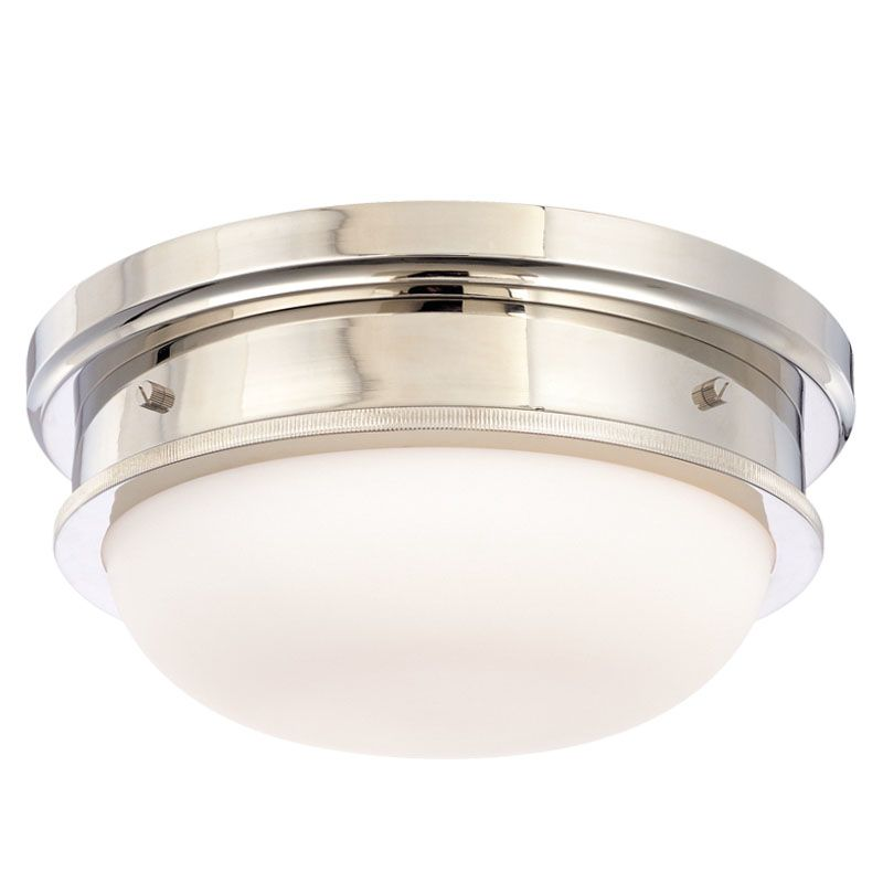 Hudson Valley 3323-PN Nickel Industrial Trumbull Ceiling Light