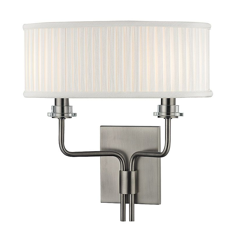 Hudson Valley Lighting 3352 Gorham 2 Light Wall Sconce with Pleated Sale $128.00 ITEM: bci2402339 ID#:3352-HN UPC: 806134177317 :