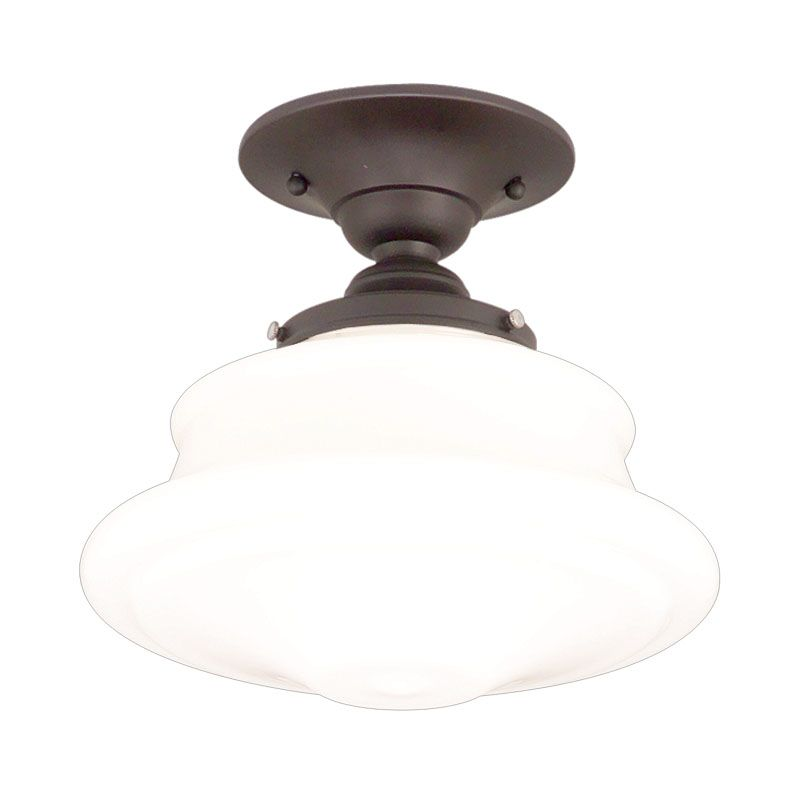 """Hudson Valley Lighting 3416F Single Light Semi Flush Ceiling Mount Sale $279.00 ITEM: bci524975 ID#:3416F-OB UPC: 806134023331 Product Features: Finish: Satin Nickel , Light Direction: Down Lighting , Width: 16"""" , Height: 12.5"""" , Genre: Midcentury / Vintage , Bulb Type: Compact Fluorescent, Incandescent , Number of Bulbs: 1 , Fully covered under Hudson Valley Lighting warranty , Location Rating: Indoor Use :"""