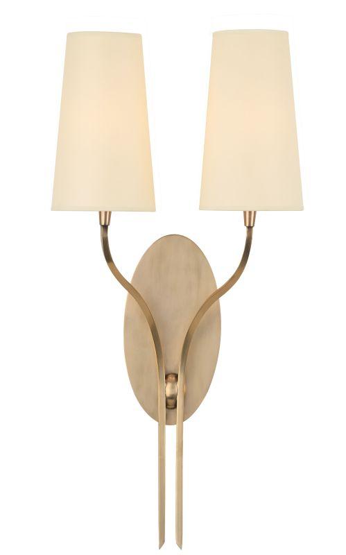 Hudson Valley Lighting 3712 Rutland 2 Light Wall Sconce Aged Brass