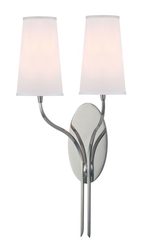 Hudson Valley Lighting 3712-WS Rutland 2 Light Wall Sconce with White