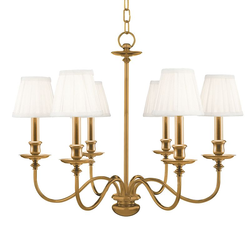 Hudson Valley Lighting 4036 Six Light Chandelier from the Menlo Park Sale $1178.00 ITEM: bci524851 ID#:4036-AGB UPC: 806134008444 :