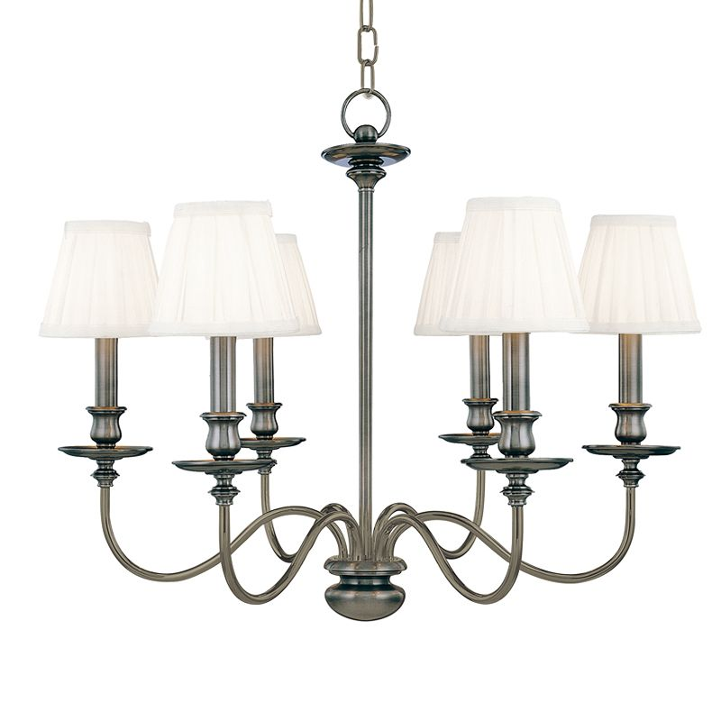 Hudson Valley Lighting 4036 Six Light Chandelier from the Menlo Park Sale $1178.00 ITEM: bci524849 ID#:4036-AN UPC: 806134008451 :