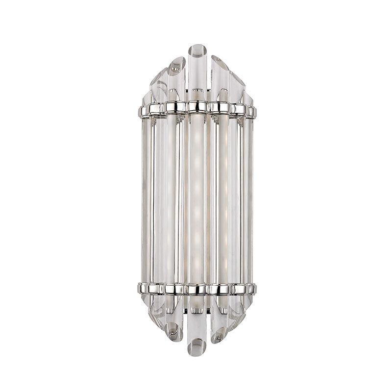 """Hudson Valley Lighting 408 Albion 17"""" LED Bath Bar with Clear Glass"""