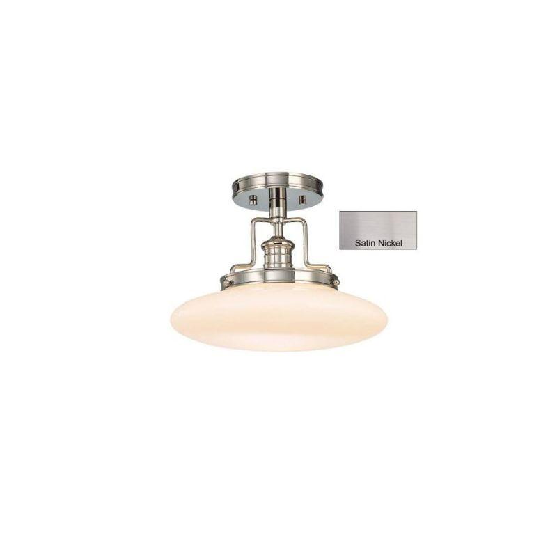 Hudson Valley 4202-SN Satin Nickel Industrial Beacon Ceiling Light