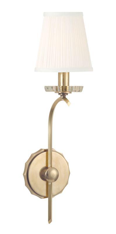 Hudson Valley Lighting 4481 Clyde 1 Light Wall Sconce Aged Brass