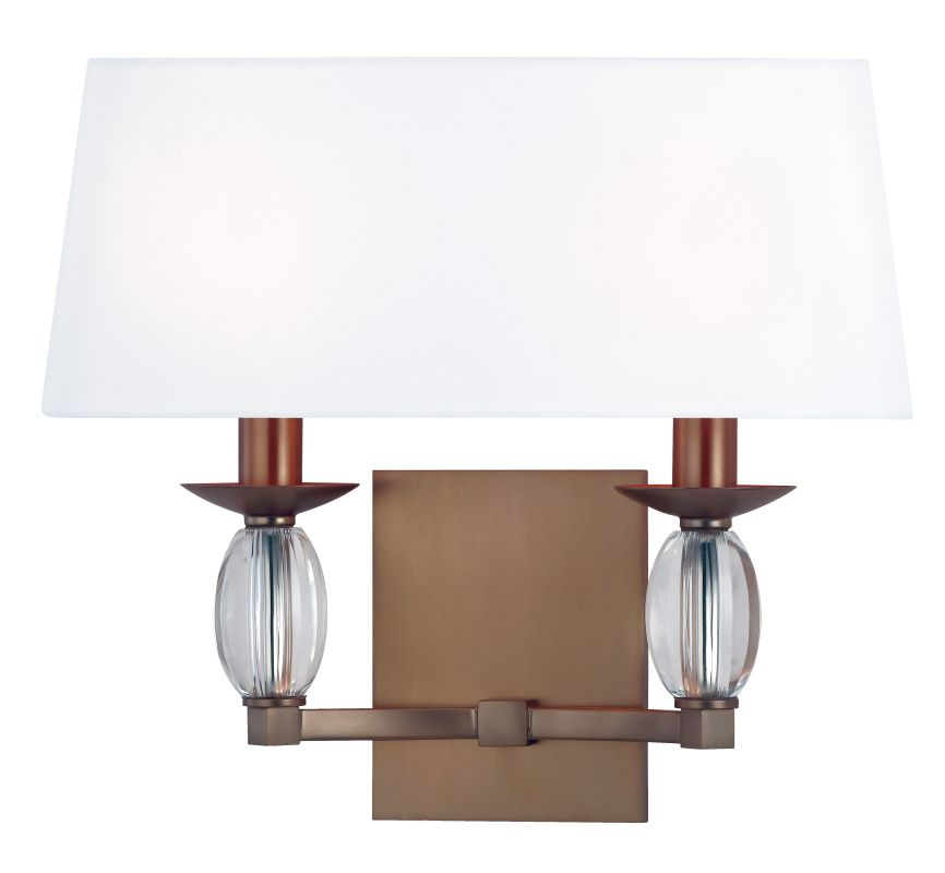 Hudson Valley Lighting 4612 Cameron 2 Light ADA Wall Sconce Brushed