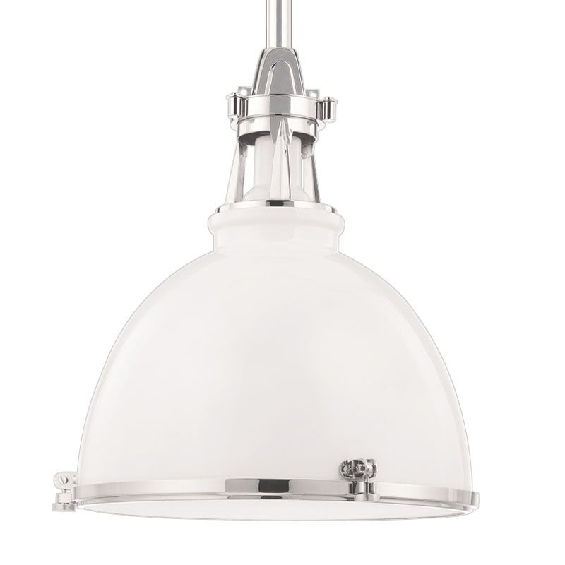 Hudson Valley Lighting 4614-WPN White Industrial Massena Pendant