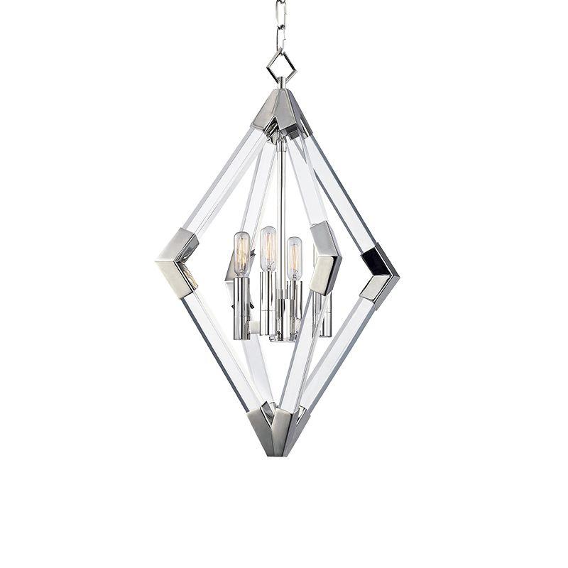 Hudson Valley Lighting 4617 Lyons 4 Light Pendant Polished Nickel